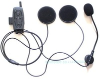 Free Shipping!!Bluetooth Motorcycle Motorbike Helmet Intercom Headset Up 500M for 3 Riders FM