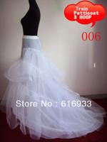 Cheap 3 hoop mermaid petticoat wedding dress petticoat wedding petticoat soft tulle undergarment WA-004