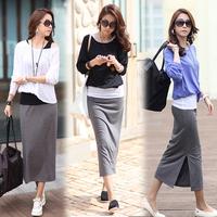 2012 women's slim placketing full dress piece set bag skirt batwing type one-piece dress