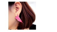 2013 new arrival fashion earrings/Exaggerated color - Geometric box drops of oil all-match Earrings