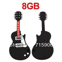 Free shipping Guitar USB 2.0 8GB 8G Flash Memory Stick Pen Drive for Win XP VISTA 7