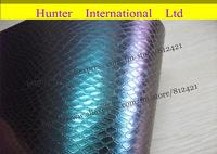 New Arrival Carbon Fiber Design Snake Skin Carbon Fiber Vinyl Car Film Wrap Sheet / Size:1.52 x 30m/ Free Shipping