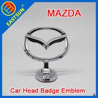 EASTSUN Car Hood Metal Chrome Badge Head Front Bonnet Emblem Sticker for MAZDA Zinc Alloy Metal free shipping