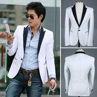 Free Shipping Male fashion bag buckle one button slim blazer groom wear 2274.Color:Black,Brown.Size:M-L-XL-XXL