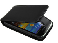 mystical black case ,genuine leather case protector for samsung galaxy s Ace plus   AAA
