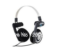 3.5mm Jack On-Ear Stereo Headphone for MP3/ MP4/ PC (Black)+freeshipping!!