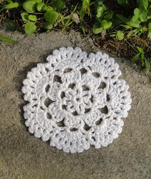"""wholesale 4"""" Handmade Crochet Mat Cup Coaster Christmas Decoration, garment ornaments appliques hand crochet patches 20pcs/lot"""