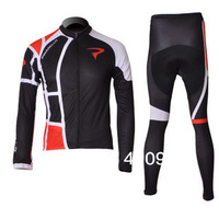 Thermal Fleece! New! 2012 PINARELLO Team White/Black Winter Cycling Jersey/Cycling Clothing+Long Pants-WT001 Free Shipping
