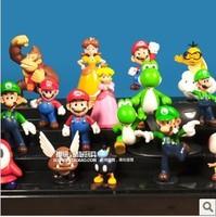 Wholesale +Free shipping!High Quality PVC Figures Toy, Super Mario Bro. PVC Home Decoration 18pcs/set