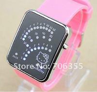 Sample Hello Ketty Watch Led Watch Silicone Watch Wristwatch Women Watch