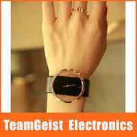 NEW Fashion Female Lady's Wristwatch watch Exquisite Hollow Dial Band Quartz Leather Wedding Wrist Watch 40pcs/lot Free Shipping