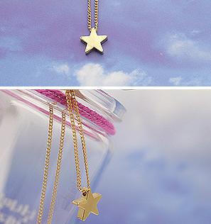 2014 Hot-Selling Gold & silver Optional Pentagram Girl Short Chain Short star ...
