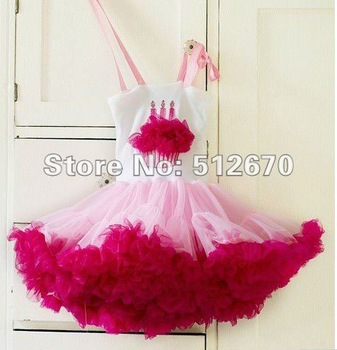 2013 Fairy Valentine's Party Pink Hearts Dress with top  for Infant Toddler Girls