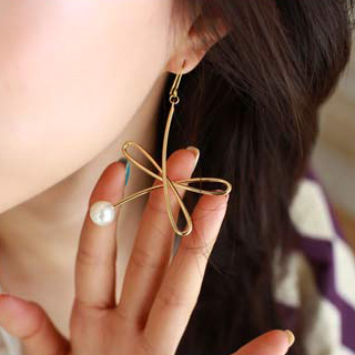 Min. order is $10 (mix order) free shipping drop earring gold and silver color pearl 8g classic style personality popular design