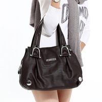 Women's handbag 2012 genuine leather brief casual one shoulder handbag / Cowhide women tote / Free shipping