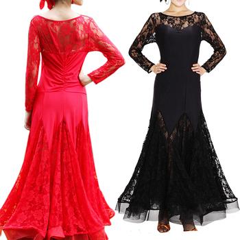 nuova moda 2015 latina salsa tango valzer cha cha sala da ballo vestito da ballo danza red nera spedizione gratuita