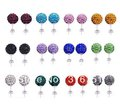 Free shipping 20pcs(10 Pairs) Mix Color 10mm Shamballa Disco Pave Crystal Ball Earrings