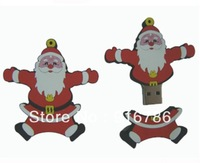 Santa Claus/Christmas Father Soft Plastic USB Flash Drive 2.0 with Genuine Capacity of 8GB