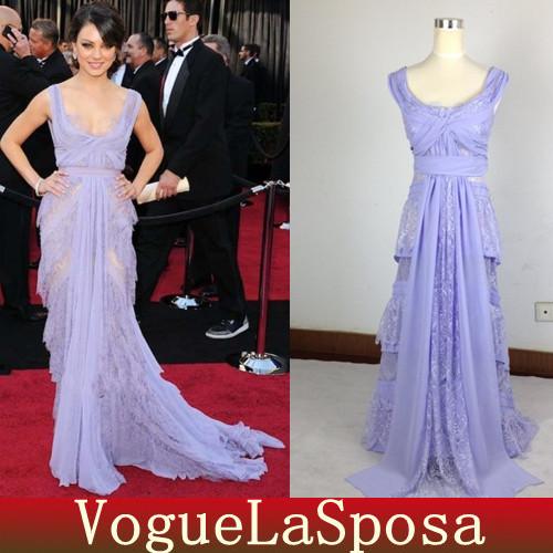 Celebrity Dresses Mila Kunis Lavender 99