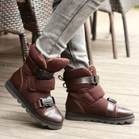 """cady-s"" 2012 genuine leather low heel with warm plush fashion boots ladies korean winter boot size 35-39 (Black, Reddish Brown)"