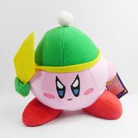 "WholesaleNew 6"" KIRBY Jumbo Dark Green Cap Soft Plush Toy 10pcs/Lot"