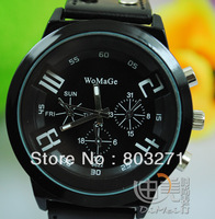 Womage needle personality fashion watch,lady wristwatches,black and white color-free shipping
