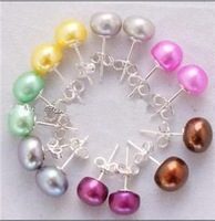 Charming!7Color 8-9mm Akoya Pearl Earring