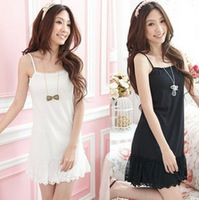 2012 Women's chiffon skirt lace slim one-piece dress tank dress suspender skirt 3 color free shipping.