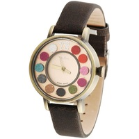 Fashion colorful personality plush ball scale women's watch gift for lady