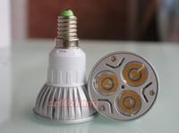 5pcs E14 3x1W 85V 265V High Power Focus LED Spot Light Buld Warm White Wholesale