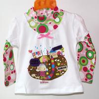 6Pcs/lot 1-6years children wear korean fashion design girls long sleeve knitted 100%cotton shirts baby turtleneck flower top
