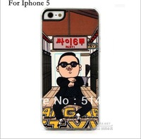Free shipping Oppa gangnam style  Korean hard back cover case for iphone 5