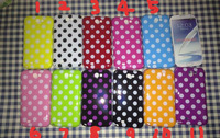 500pcs/lot  Polka Dots Wave Point Design Soft TPU Case For Samsung Galaxy Note2 N7100