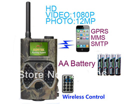 "Free DHL shipping,Newest 12MP Infrared mobile HD 1080P Digital trail camera MMS hunting camera with 2"" TFT Screen,2pcs/lot(China (Mainland))"