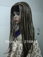 Free shipping>>>XJ30@NEW MIX Blonde Brown LONG BRAID FULL WIG