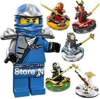 Ninjago assembly education toys blocks against fight beyblades hot sale 6 model mixed