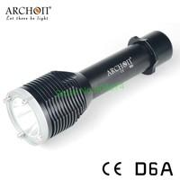 Free shipping Archon D6A Dive Light CREE XM-L U2 LED 650 Lumens Diving Flashlight (Black) AA