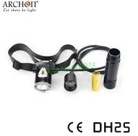 Archon DH25 CREE XM-L U2 LED 1000 Lumens Canister Diving Flashlight Headlight +(2 Pcs charging 26650 battery,2 Pcs Charger)Kit
