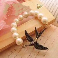 Min.order is $15 (mix order) Fashion classic bracelet vintage bracelet seagull pearl bracelet