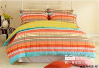 SUNA fashion forefront A+B color combination 100% cotton Twill printed Bedding 4pcs sets For queen-size bed