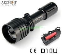 Archon D10U XM-L U2 LED 680 lm Zoom Focus Diving Flashlight Photographing LED Light+(1 Pcs charging 18650 battery,1 Pcs Charger)