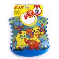 Sassy plastic three-dimensional bib waterproof pocket baby bib bibs