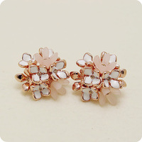 Viennois VIENNOIS accessories female gentlewomen elegant earring earrings stud earring flowery noble elegant