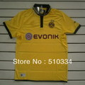 Free Shipping!!! 12/13 Dortmund Home Yellow Soccer Jersey,Dortmund Thailand Quality football Shirt+Embroidery Logo Soccer Shirt