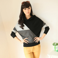 Loose sweater vintage batwing sleeve sweater pullover batwing shirt autumn and winter long-sleeve outerwear c299