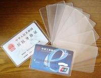 16 pcs/pack Cheap Transparent PVC  bank card case ic card case (DM)