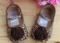 Free shipping  new arrive hot sell Baby First Walker Shoes infant baby prewalker Leopard princess sole shoes 6pairs/lot