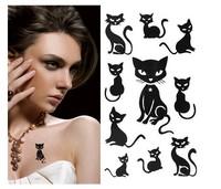 New Arrival!Sexy Waterproof Tattoo Sticker Cute Erogenous Cat PatternTatto (10pcs/lot),Wholesale,Free Shipping #TZ005#