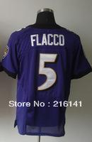 Free/Fast Shipping,Sewn On #5 Joe Flacco Men's Team Purple Football Elite Jerseys,Size 40,44,48,52,56.Accept Drop Shipping.