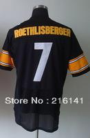 Free/Fast Shipping, #7 Ben Roethlisberger Men's Team Black Football Elite Jerseys,Size 40,44,48,52,56.Accept Drop Shipping.